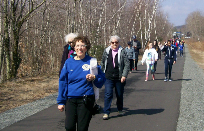 Walkers on the trail.